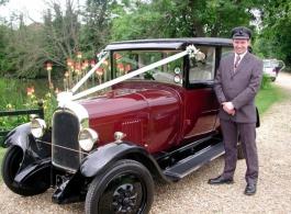 1927 Vintage wedding car for hire in Milton Keynes
